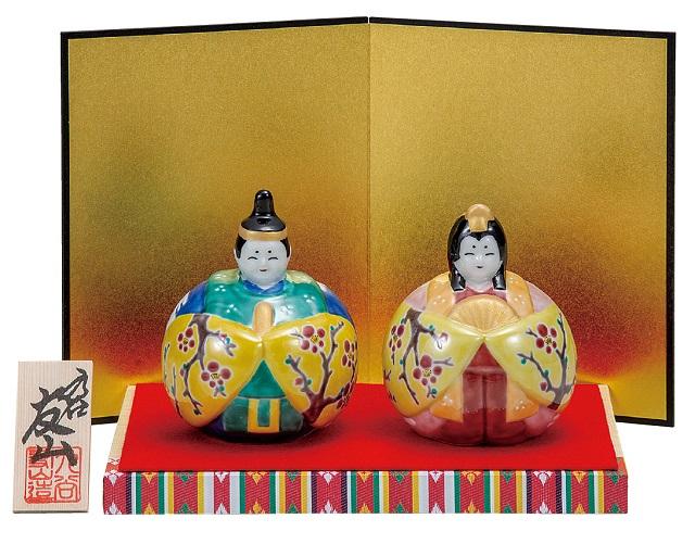 コンパクトでかわいい九谷焼の雛人形